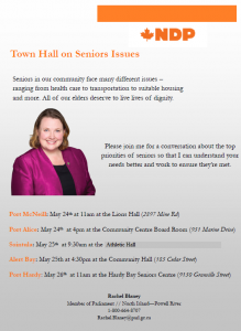 seniors townhall flyer